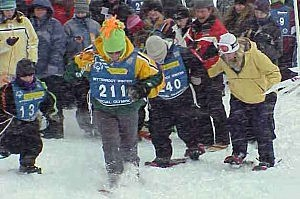 Special Olympics snowshoe