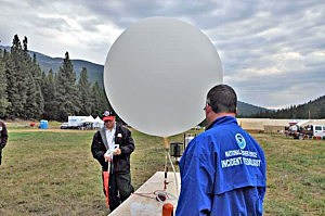 weather balloon at Gold Pan Fire