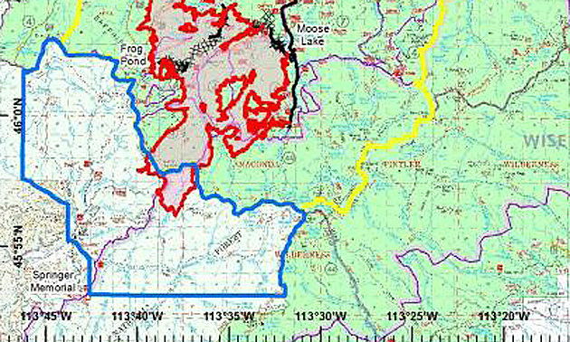 meyers fire map